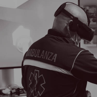 rescuer gets trained with virtual reality