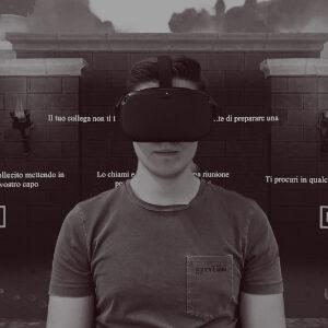 ragazzo usa realtà virtuale formazione